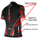 MAILLOT SILA CARBON STYLE ROUGE - Manches Courtes