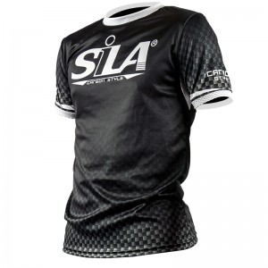 MAILLOT RUNNING SILA CARBON STYLE WHITE - Manches courtes