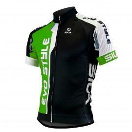 MAILLOT SILA EVO STYLE VERT - Manches courtes
