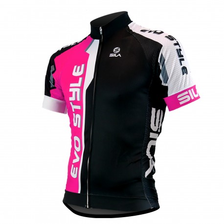MAILLOT SILA EVO STYLE ROUGE - Manches courtes