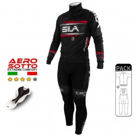 PACK HIVER Cyclisme - CARBON STYLE 2 - ROUGE