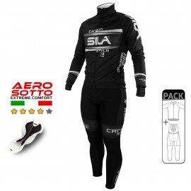 PACK HIVER Cyclisme - CARBON STYLE 2 - BLANC