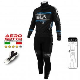 PACK HIVER Cyclisme - CARBON STYLE 2 - BLEU