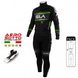 PACK HIVER Cyclisme - CARBON STYLE 2 - VERT