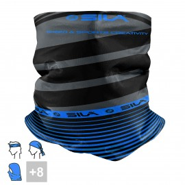 BANDANA NECK multifunction SILA - SS CREATIVITY BLACK/BLUE