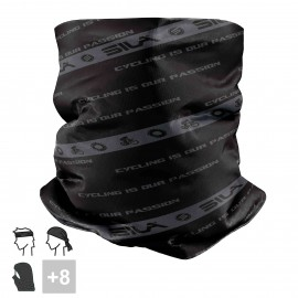 BANDANA NECK multifunction SILA - BLACK / WHITE