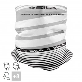 BANDANA NECK multifunction SILA - SS CREATIVITY WHITE/BLACK