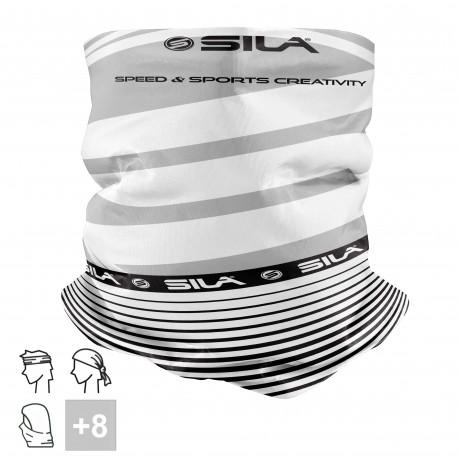 BANDANA TOUR DE COU multifonction SILA - SS Créativity Blanc / Noir