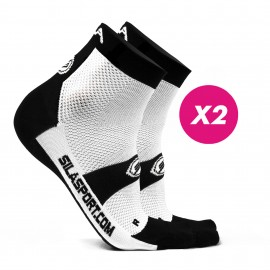 PACK PROMO 2 SHORTS SOCKS SILA - WHITE / BLACK