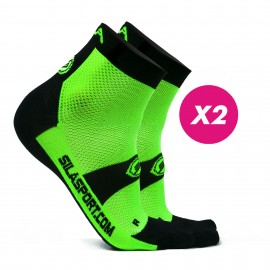 PACK PROMO 2 SHORTS SOCKS SILA - GREEN / BLACK