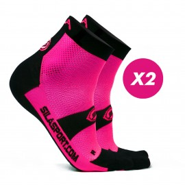 PACK PROMO 2 SHORTS SOCKS SILA - PINK / BLACK
