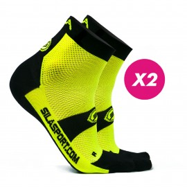 PACK PROMO 2 SHORTS SOCKS SILA - YELLOW / BLACK