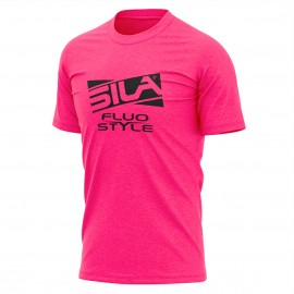 T-SHIRT SILA FLUO STYLE 3 ROSE
