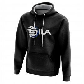 HOODIE SILA Speed & Sports Creativity BLACK/BLUE