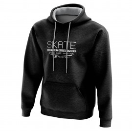 SWEAT À CAPUCHE SILA SKATE SUPPORT - Noir