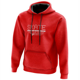 HOODIE SILA SKATE SUPPORT - Red
