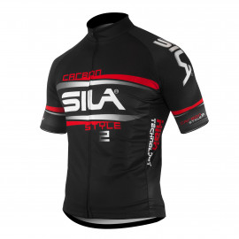 JERSEY SILA CARBON STYLE 2 RED-Short sleeves