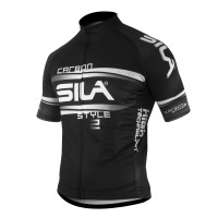 JERSEY SILA CARBON STYLE 2 WHITE-Short sleeves