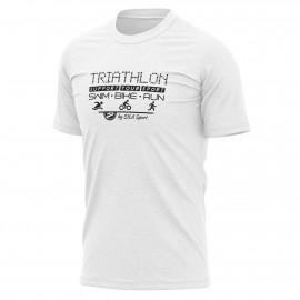 T-SHIRT SILA TRIATHLON SUPPORT WHITE