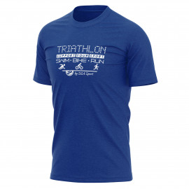 T-SHIRT SILA TRIATHLON SUPPORT BLUE