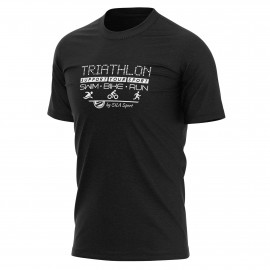 T-SHIRT SILA TRIATHLON SUPPORT - Noir