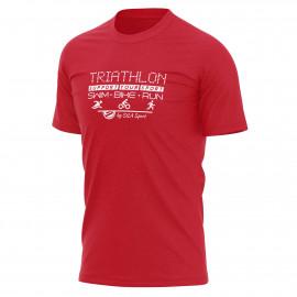 T-SHIRT SILA TRIATHLON SUPPORT - Red
