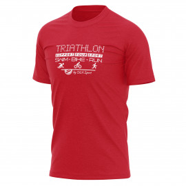 T-SHIRT SILA TRIATHLON SUPPORT - Rouge