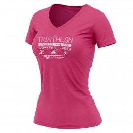 T-SHIRT SILA TRIATHLON SUPPORT ROSE - FEMME
