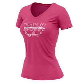 T-SHIRT SILA TRIATHLON SUPPORT - Women Black