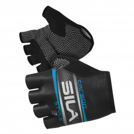 SHORT GLOVES SILA - CARBON STYLE 2 BLUE