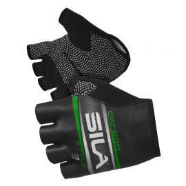 SHORT GLOVES SILA - CARBON STYLE 2 GREEN