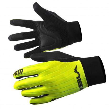 LONG GLOVES MTB SILA - PRO AERO Yellow Fluo