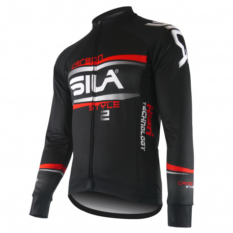 JERSEY/JACKET MID-SEASON SILA CARBON STYLE 2 RED-long sleeves