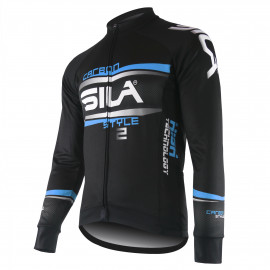 JERSEY/JACKET MID-SEASON SILA CARBON STYLE 2 BLUE-long sleeves