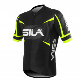 MAILLOT PRO RACE SILA TEAM - JAUNE FLUO - Mc