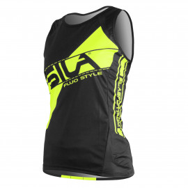 RUNNING WOMAN SLEEVELESS JERSEY SILA FLUO STYLE 3 YELLOW