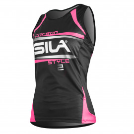 RUNNING WOMAN SLEEVELESS JERSEY SILA CARBON STYLE 2 - PINK