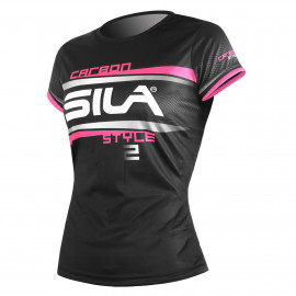 MAILLOT RUNNING FEMME - SILA CARBON STYLE 2 - ROSE - Mc