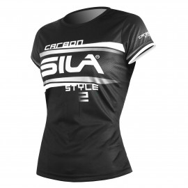 RUNNING WOMAN JERSEY SILA CARBON STYLE 2 - WHITE - Ss