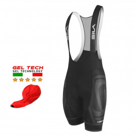 CYCLING BIB SHORT SILA PREMIUM PRO BLACK