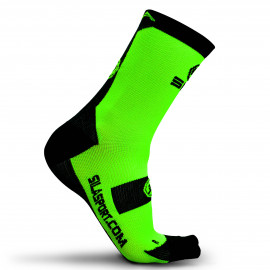 SOCKS SILA - FLUO GREEN / BLACK