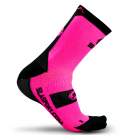 SOCKS TECHNICS SILA - FLUO PINK / BLACK
