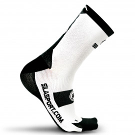 SOCKS TECHNICS SILA - WHITE / BLACK