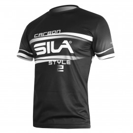 MAILLOT RUNNING HOMME - SILA CARBON STYLE 2 - BLANC - Mc