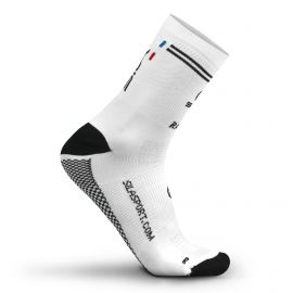 MEDIUM HEIGHT SOCKS SILA RACING - WHITE / BLACK