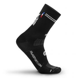 MEDIUM HEIGHT SOCKS SILA RACING - BLACK / WHITE