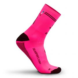 MEDIUM HEIGHT SOCKS SILA RACING - FLUO PINK / BLACK