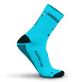 MEDIUM HEIGHT SOCKS SILA RACING - BLUE / BLACK