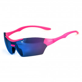 SUNGLASSES SILA TRIGO- PINK - BLUE LENSES
