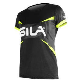 JERSEY WOMAN RUNNING PRO ULTRALIGHT - SILA TEAM -YELLOW FLUO- Ss